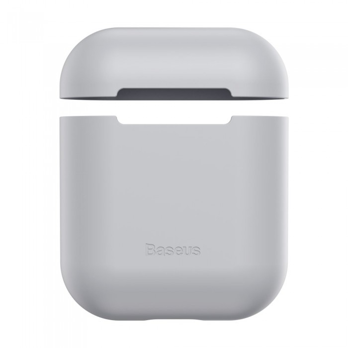 Husa protectoare AirPods, Baseus Ultrathin Series, Alb