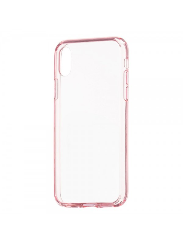 Husa de protectie, Remax Crystal Shield, iPhone X/XS, Roz Transparent