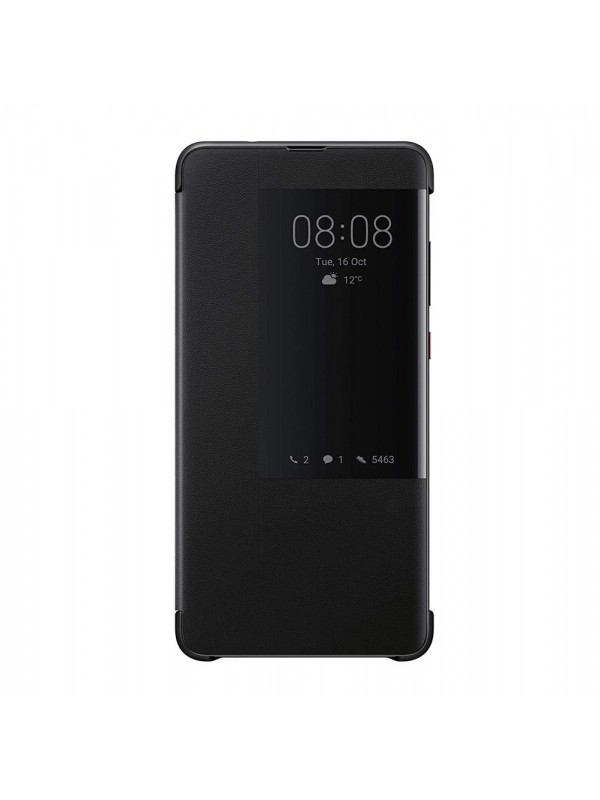 Husa Huawei Mate 20 Originala, Smart View Flip Cover, Negru