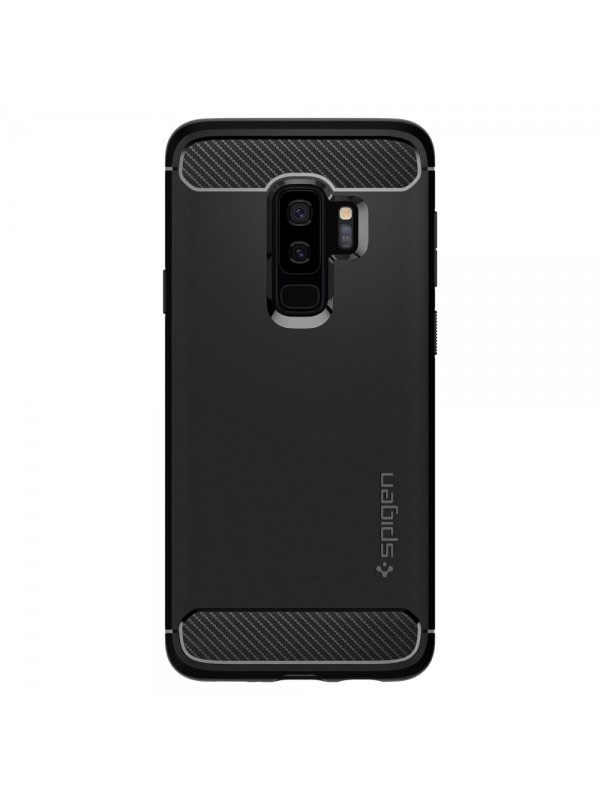 Husa Samsung Galaxy S9 Plus, Spigen Rugged Armor Air Cushion, Negru