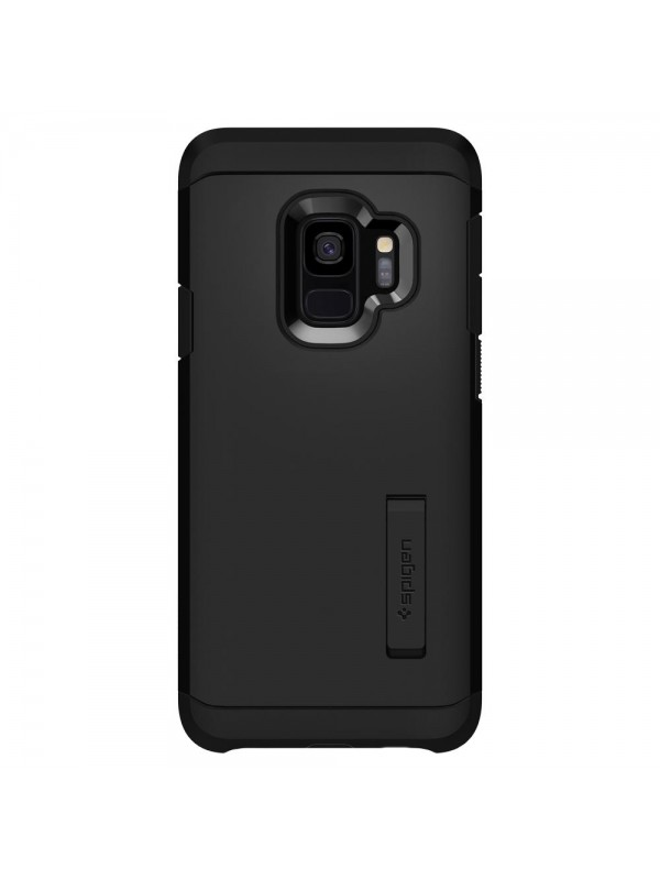 Husa Samsung Galaxy S9, Spigen Tough Armor Air Cushion, Negru