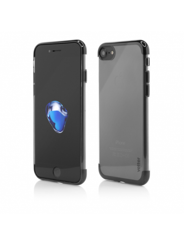 Husa Vetter iPhone 8, 7 Clip-On Shiny Soft Series Negru