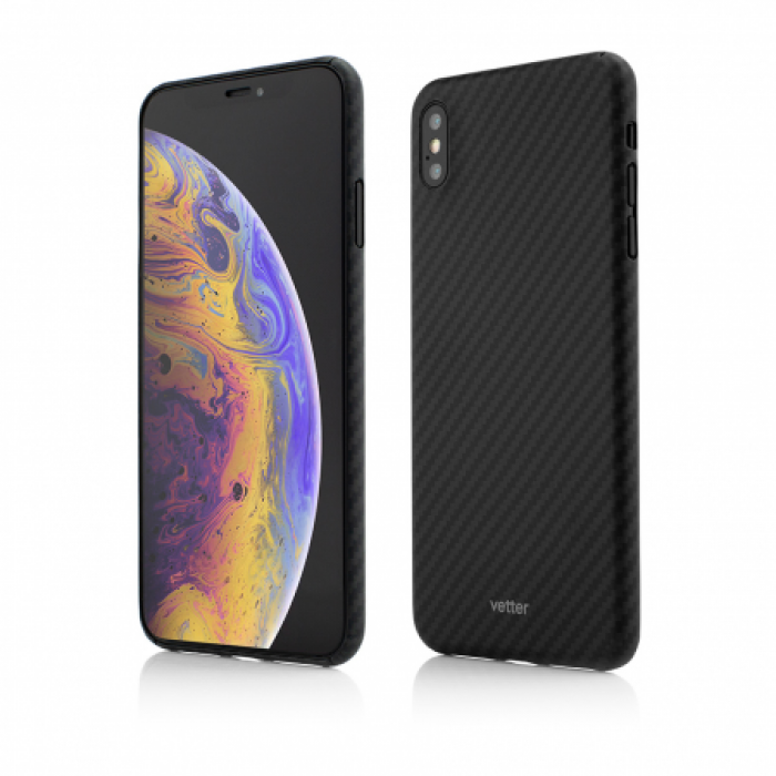 Husa Vetter iPhone XS Max Clip-On Ultra Slim made from Aramid Fiber Kevlar Negru