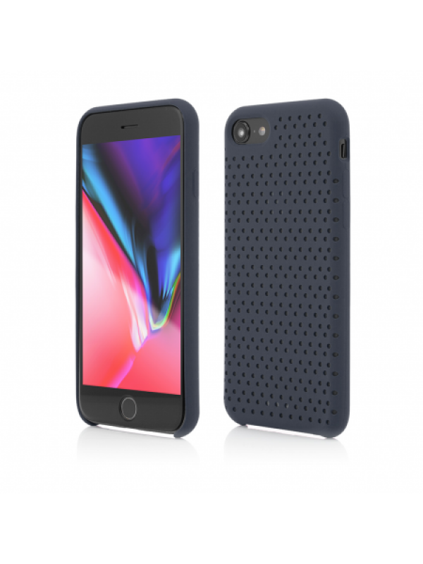 Husa Vetter iPhone 8, 7 Clip-On Silk Dot Design Albastru