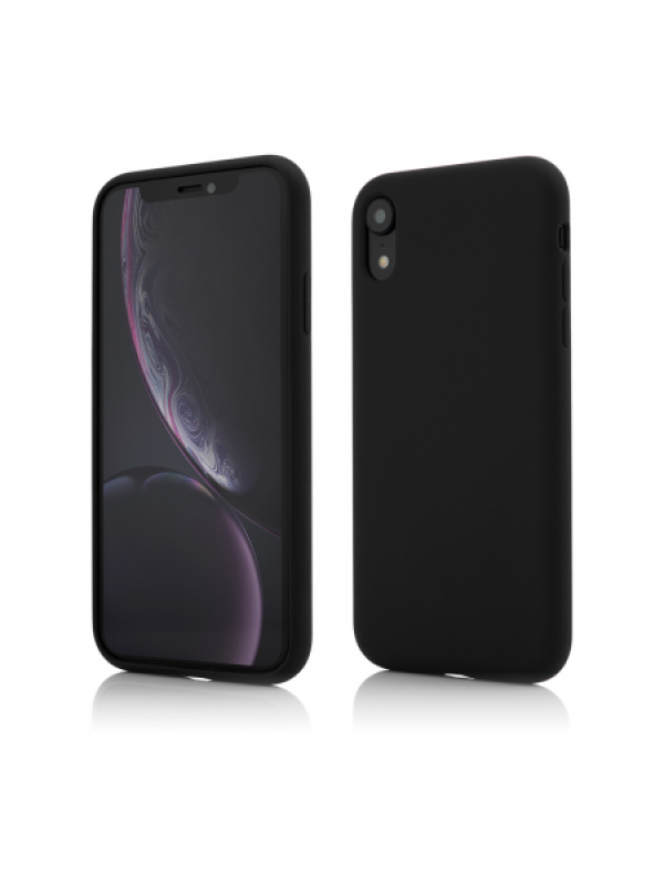 Husa Vetter iPhone XR Clip-On Soft Touch Silk Series Negru