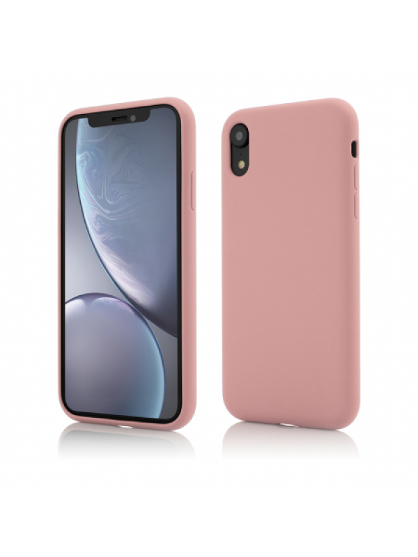 Husa Vetter iPhone XR Clip-On Soft Touch Silk Series Roz