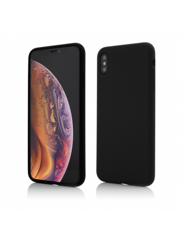 Husa Vetter iPhone XS Max Clip-On Soft Touch Silk Series Negru