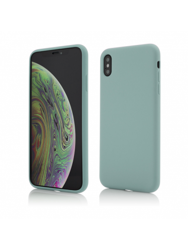 Husa Vetter iPhone XS Max Clip-On Soft Touch Silk Series Verde