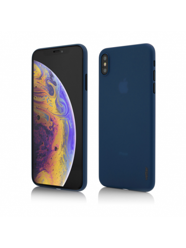 Husa Vetter iPhone XS Max Clip-On Ultra Thin Air Series Albastru