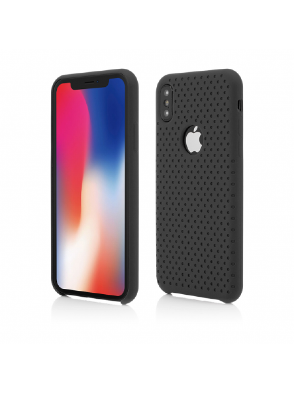 Husa Vetter iPhone XS, X Clip-On Silk Dot Design Negru