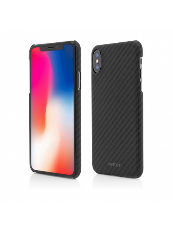 Husa Vetter iPhone XS, X Clip-On Ultra Slim made from Aramid Fiber Kevlar Negru
