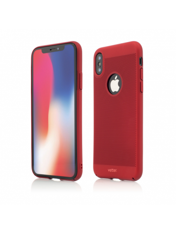 Husa Vetter iPhone XS, X Clip-On Vent Series LTD Rosu