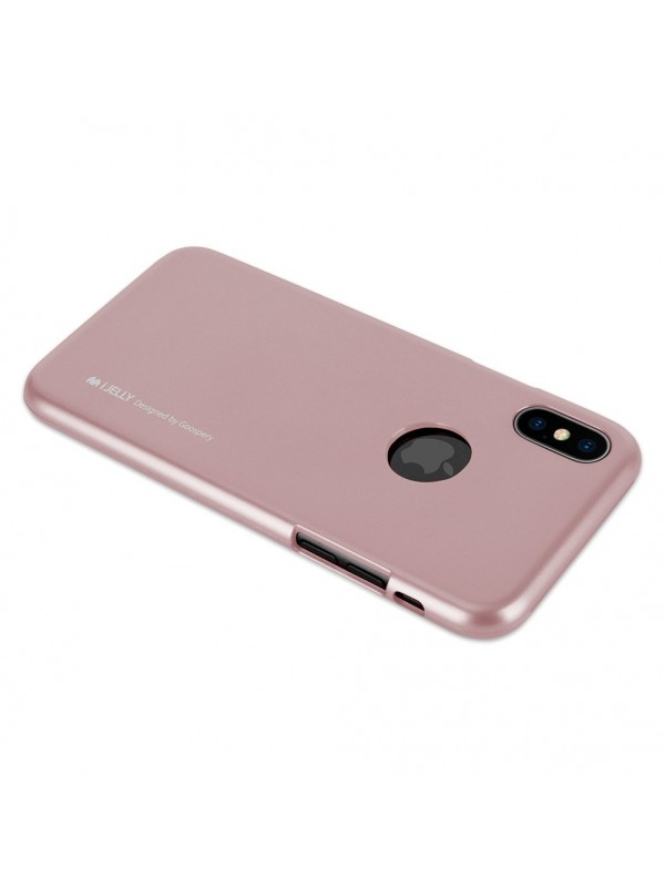 Husa de protectie, iPhone XS Max, Goospery Mercury iJelly Hole, Rose Auriu