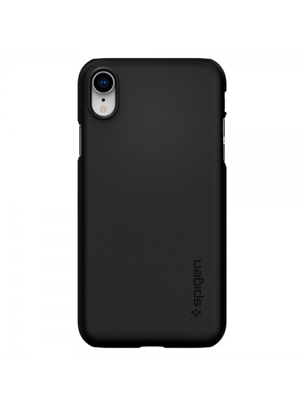 Husa iPhone XR, Spigen Thin Fit, Negru