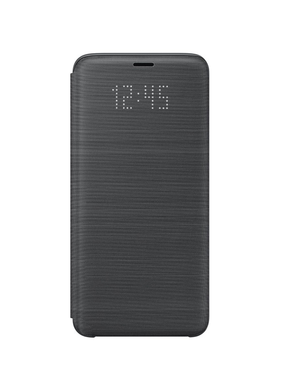 Husa Samsung Flip Originala, LED View Cover, Galaxy S9, Negru