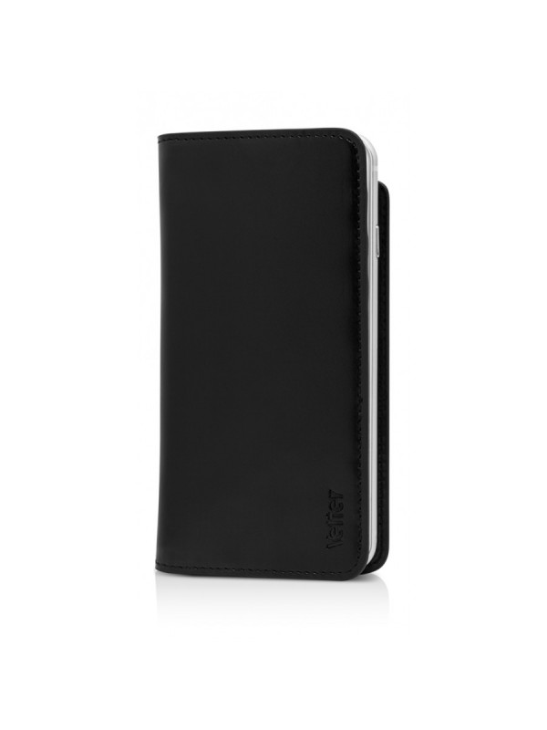 Husa Vetter, Flip Cover Slim Leather Case, iPhone 6 Plus, Negru