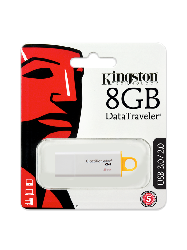 Memorie USB Kingston 8 GB ,Alb