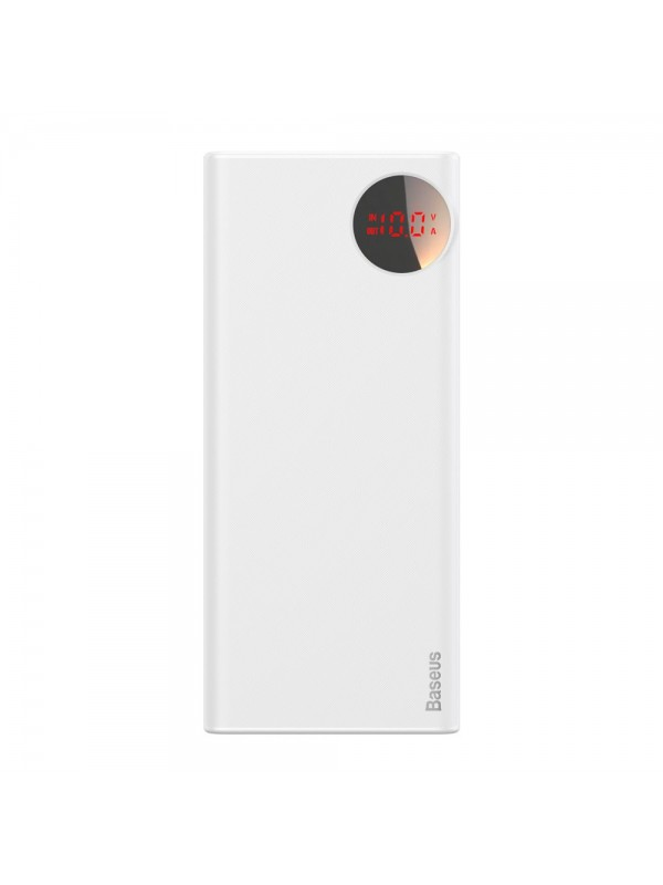 Baterie Externa Power Bank, Baseus Mulight Power Display, 20000 mAh, Alb
