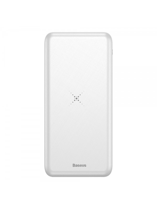 Baterie Externa Power Bank, Baseus M36 Wireless Charger, 10000 mAh, Alb