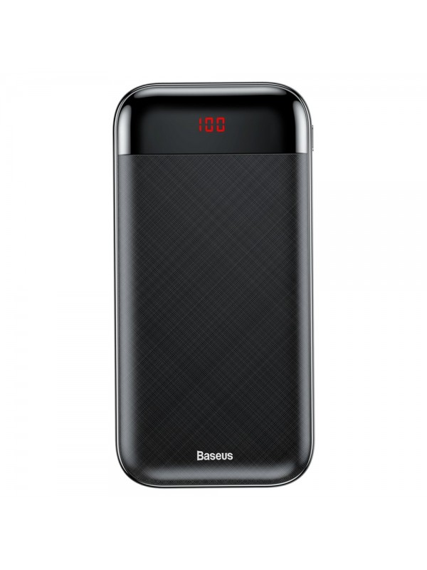 Baterie Externa Power Bank, Baseus Mini, 20000 mAh, 2x USB 3A, Negru