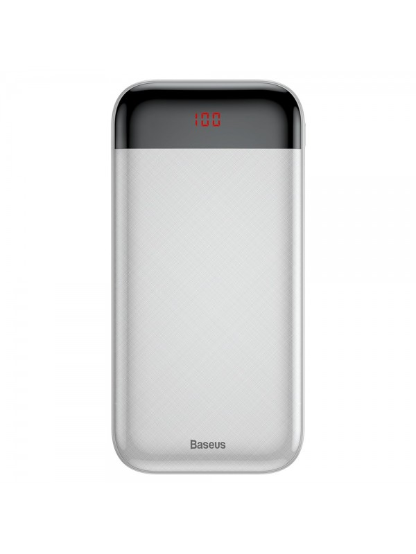 Baterie Externa Power Bank, Baseus Mini, 20000 mAh, 2x USB 3A, Alb