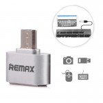 Adaptor Remax, USB to USB-C, Argintiu