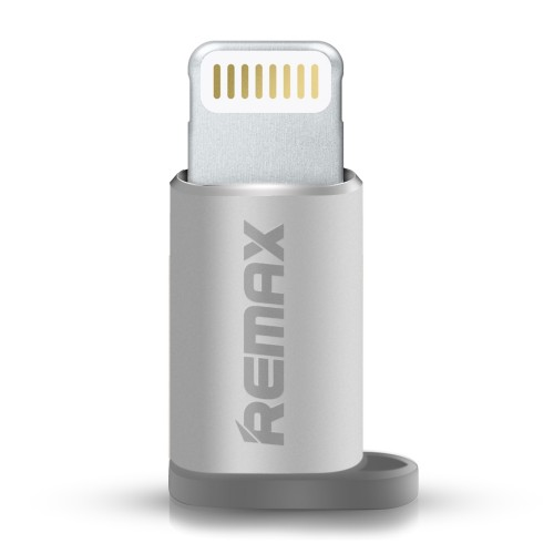 Adaptor Remax, MicroUSB to Lightning, Argintiu