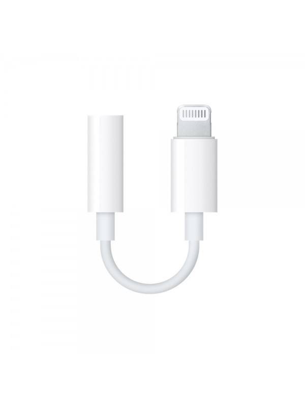Adaptor audio Apple, Original Lightning to Jack 3.5mm, Ambalaj Blister, MMX62ZM/A, Alb