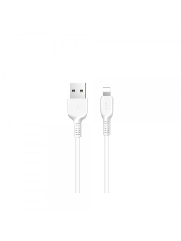 Cablu de date/incarcare Hoco, X13 Easy Charged, Lightning 1M, Alb