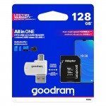 Card de memorie Goodram, class10 128 GB, Cititor Card MicroUSB, Negru/Alb