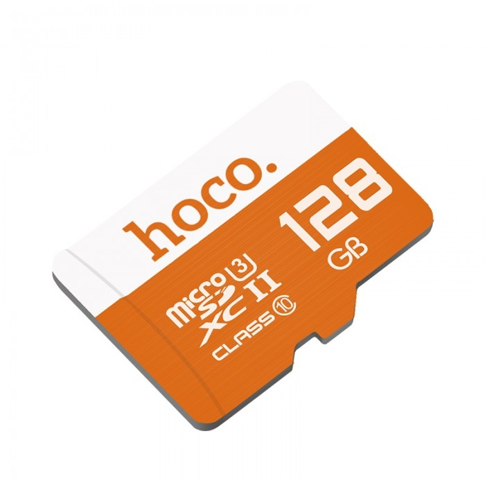 Card de memorie Hoco, TF high speed card Micro-SD, 128 GB, Portocaliu