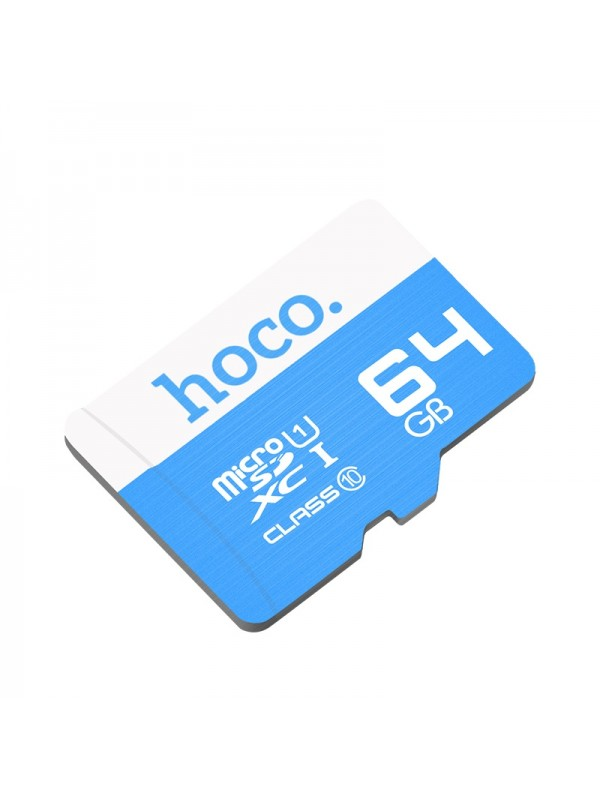 Card de memorie Hoco, TF high speed card Micro-SD, 64 GB, Albastru
