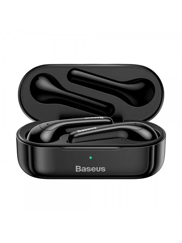 Casti Bluetooth Baseus, TWS Encok W07, Mini Wireless Waterproof, Negru