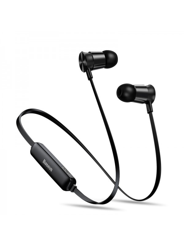 Casti Bluetooth, Baseus Encok Sports S07, Cu fir, 60 mAh, Negru