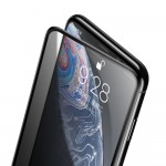 Folie Sticla Baseus, Tempered Glass Film, iPhone XR/11, Privacy Dust Protector, Negru
