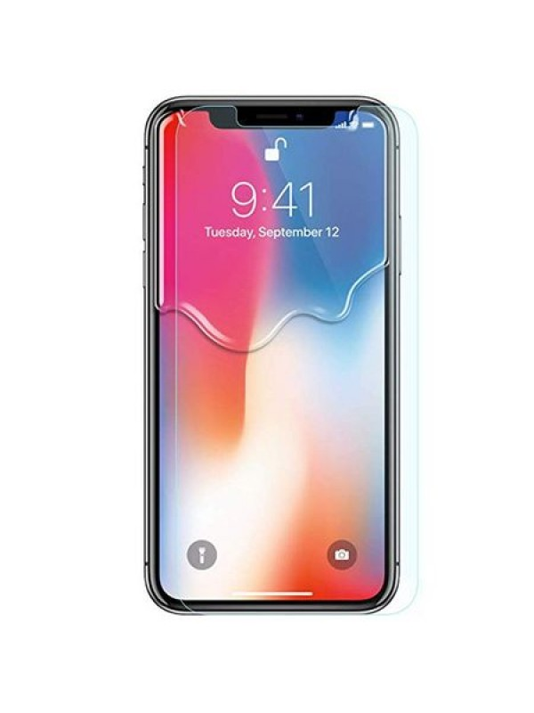 Folie sticla Gel UV, iPhone X, Transparent