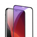 Folie Sticla Baseus, 2 x Tempered Glass Film, iPhone XR/11, Privacy Dust Protector, Negru