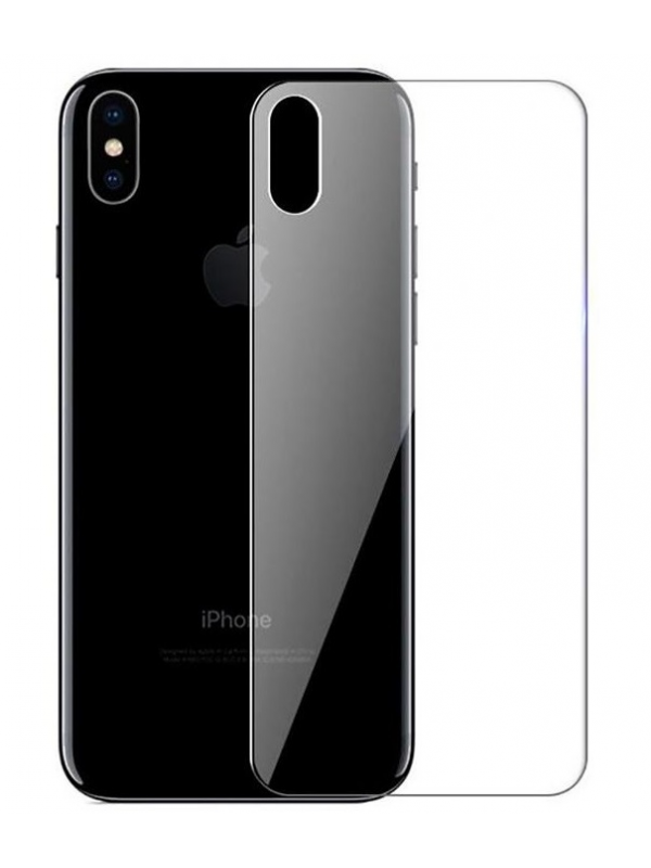 Folie Sticla Baseus, Full Tempered Glass Rear Pentru Spate, iPhone XS Max, Transparent