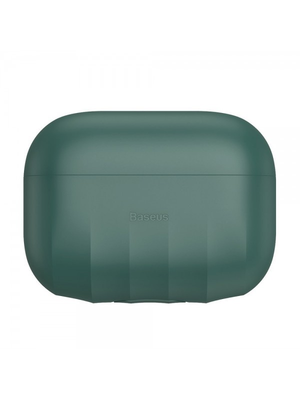 Husa protectoare AirPods Pro, Baseus Shell Pattern, Verde