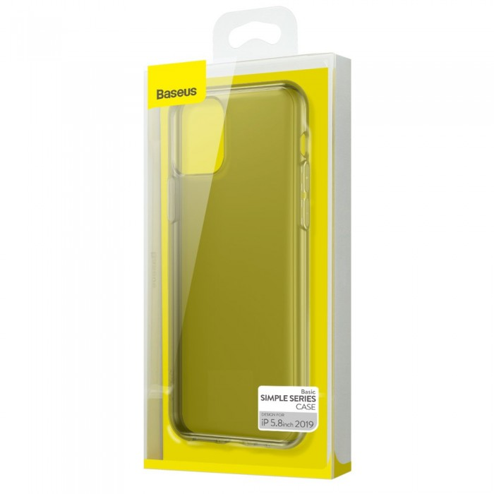 Husa Baseus Simple Series, iPhone 11 Pro, Negru Transparent