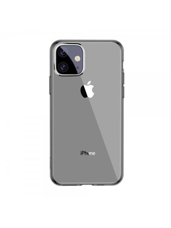 Husa Baseus Simple Series, iPhone 11, Negru Transparent