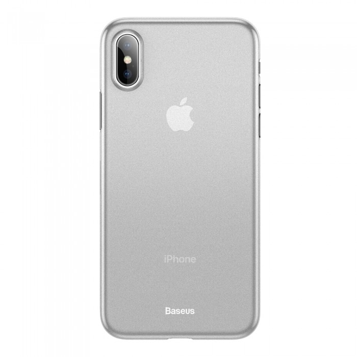 Husa Baseus Wing, Ultra Thin Lightweight, iPhone XS Max, Alb Transparent