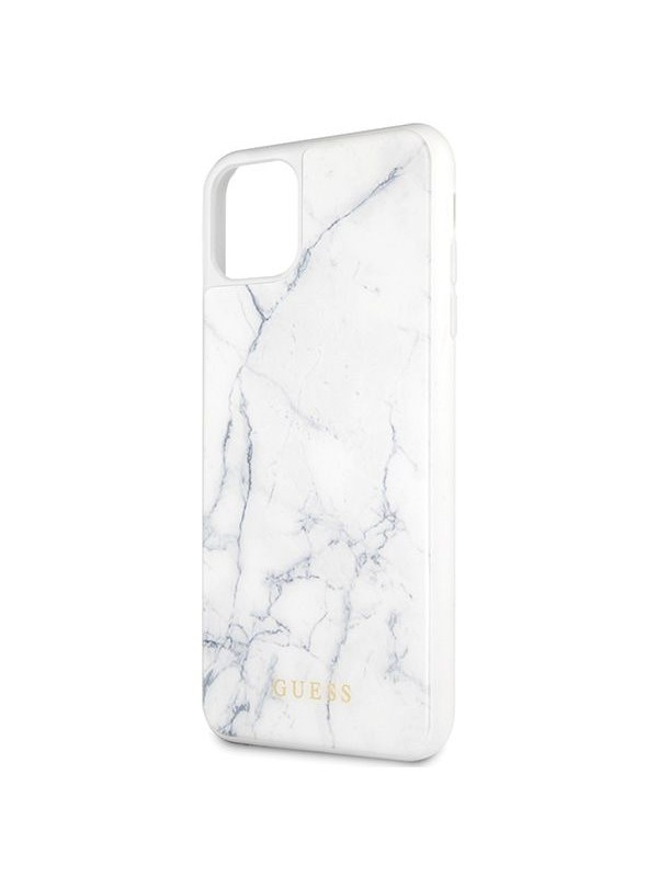 Husa de protectie, Guess Marble Collection, iPhone 11 Pro Max, Alb