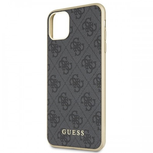 Husa de protectie, Guess 4G Collection, iPhone 11 Pro Max, Gri