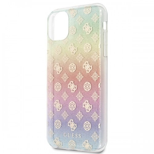 Husa de protectie, Guess Peony Solid Glitter, iPhone 11 Pro Max, Multicolor