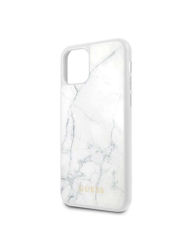 Husa de protectie, Guess Marble Collection, iPhone 11 Pro, Alb