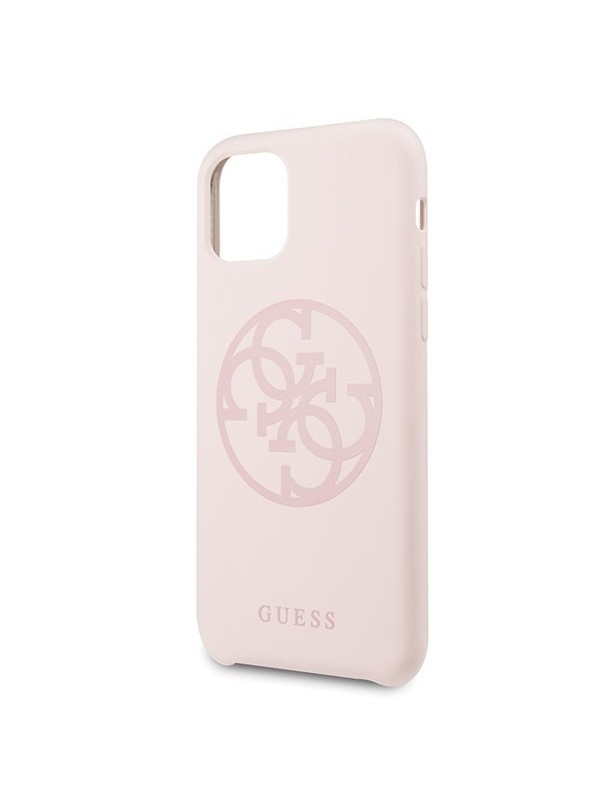 Husa de protectie, Guess Tone On Tone 4G, iPhone 11 Pro, Roz