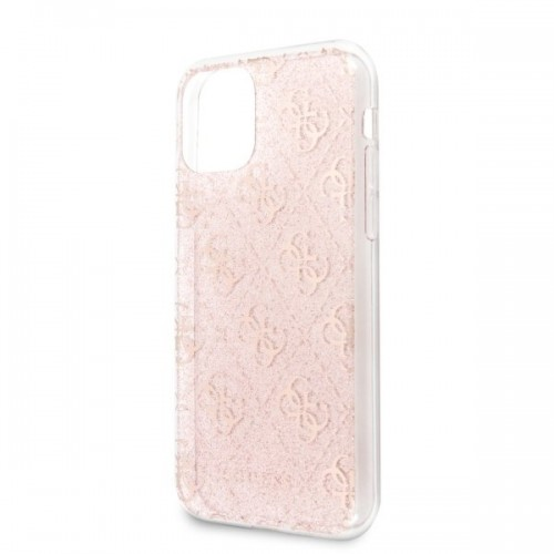 Husa de protectie, Guess 4G Glitter, iPhone 11 Pro, Roz