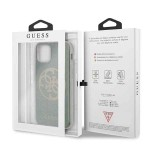 Husa de protectie, Guess Glitter Circle, iPhone 11, Verde