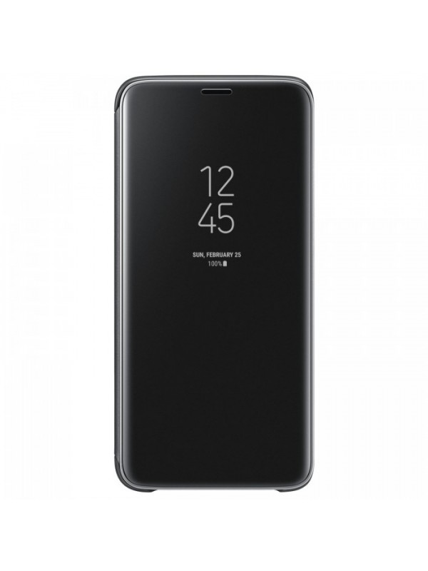 Husa Flip Cover Clear View, Samsung Galaxy A6 (2018), Negru